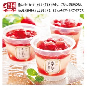 送料無料 博多あまおう たっぷり苺のアイス 産地直送ギフト|excel-fukuoka
