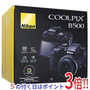 【商品名:】【中古】Nikon デジカメ COOLPIX B500 ブラック 1602万画素 元箱あ...