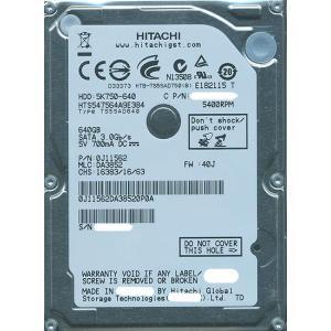【商品名:】【キャッシュレスで5%還元】【中古】HITACHI ノート用HDD 2.5inch HT...