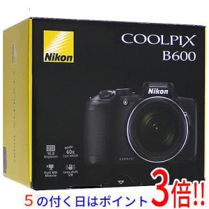 【商品名:】【中古】Nikon デジタルカメラ COOLPIX B600BK ブラック 1602万画...