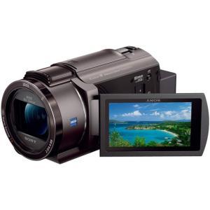 【中古】SONY製 デジタル4Kビデオカメラレコーダー FDR-AX45/TI ブロンズブラウン 元...