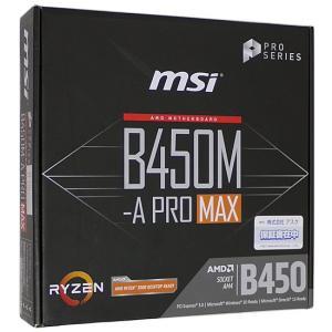 【中古】MSI製 MicroATXマザーボード B450M-A PRO MAX SocketAM4 ...