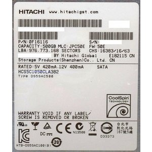 【商品名:】【キャッシュレスで5%還元】HITACHI製HDD HCS5C1050CLA382 50...