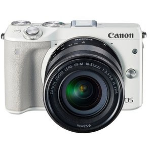 EOS M3 EF-M18-55 IS STM レンズキット★WH★訳あり●新品【訳あり】