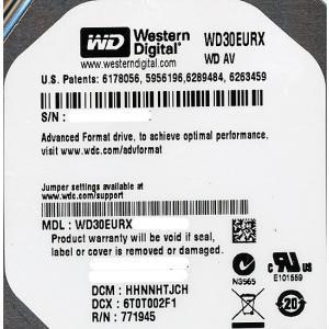 Western Digital製HDD WD30EURX 3TB SATA600|excellar