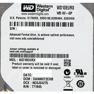 Western Digital製HDD WD10EURX 1TB SATA600|excellar