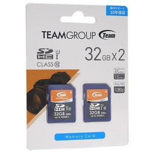 TEAM■SDHCカード(2枚セット) 32GB■THC032GU1DP■未開封【ゆうパケット不可】