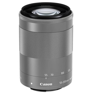 Canon★EF-M55-200mm F4.5-6.3 IS STM シルバー★ワケあり●新品|excellar