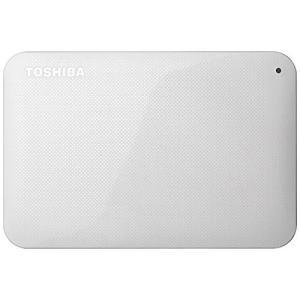 【新品(箱きず・やぶれ)】 TOSHIBA PortableHD CANVIO BASICS HD-AC20TW 2TB|excellar