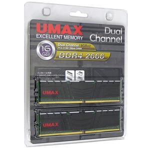 UMAX DCDDR4-2666-16GB HS DDR4 PC4-21300 8GB 2枚組|excellar