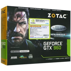 【新品訳あり(箱きず・やぶれ)】 ZOTAC GeForce GTX 960 METAL GEAR SOLID V|excellar