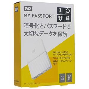 【キャッシュレスで5%還元】【新品訳あり(箱きず・やぶれ)】 WesternDigital製 ポータブルHD My Passport WDBYNN0010BWT-JESN ホワイト 1TB|excellar