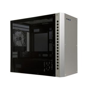 【新品(開封のみ・箱きず・やぶれ)】 ABEE PCケース AS Enclosure RS06 ASE-RS06-SV シルバー|excellar