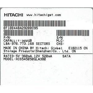 【商品名:】【キャッシュレスで5%還元】HITACHI製HDD HCS545050GLA380 50...