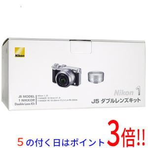 【商品名:】Nikon 一眼 Nikon 1 J5 ダブルレンズキット シルバー 元箱あり / 【商...