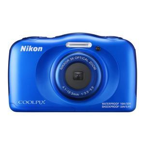 【中古】Nikon製 デジカメ COOLPIX W100BL ブルー/1317万画素 未使用|excellar