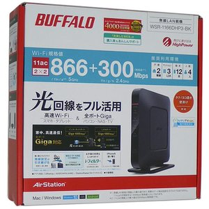 【商品名:】【中古】BUFFALO バッファロー 無線LANルータ WSR-1166DHP3-BK ...