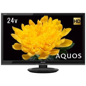SHARP 24V型 ハイビジョン 液晶テレビ AQUOS LC-24P5-B ブラック|excellar