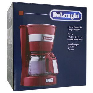 【新品訳あり(箱きず・やぶれ)】 DeLonghi ドリップコーヒーメーカー ICM14011J-R|excellar