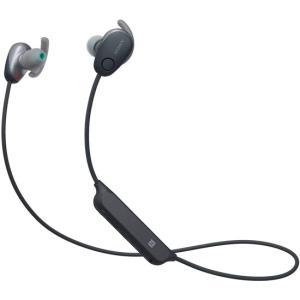 【中古】SONY製 ワイヤレスノイズキャンセリングステレオヘッドセット WI-SP600N (B) ブラック|excellar