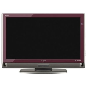 【中古】SHARP 32V型 ハイビジョン液晶テレビ AQUOS LC-32DX3-R レッド 訳あり リモコンなし|excellar