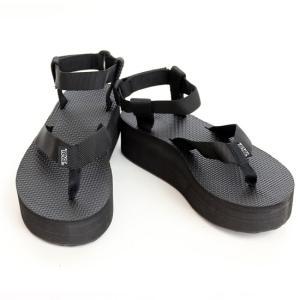teva サンダル W Flatform Sandal レディース 黒 ブラック 厚底 サイズ8 25cm【ゆうパケット不可】