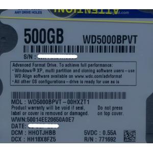WesternDigital HDD 2.5inch★WD5000BPVT★500GB 9.5mm★未開封【ゆうパケット不可】|excellar