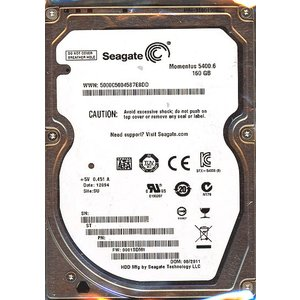 SEAGATE ノート用HDD 2.5inch ST9160314AS 160G 9.5mm|excellar