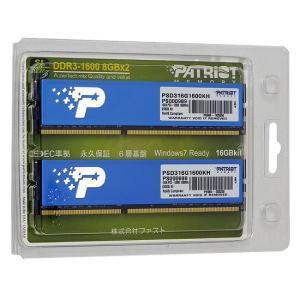 Patriot Memory PSD316G1600KH DDR3 PC3-12800 8GBx2|excellar