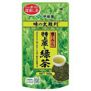 ■ITO-01916     味の太鼓判 特上蒸し緑茶500 (100g×10本)≪4901085019160≫|excellent