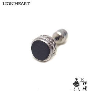 ライオンハートLION HEART ピアス ステンレス メンズ  03EA0215BK シルバー ブラックCZ エクセルワールド プレゼント アクセサリー|excelworld