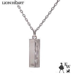 ライオンハートLION HEART ネックレス ステンレス メンズ ペンダント トライネックレス 03NE00205BK ロゴプレート ブラック エクセルワールド プレゼント|excelworld