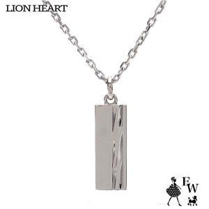 ライオンハートLION HEART ネックレス ステンレス メンズ ペンダント トライネックレス 03NE00205SV ロゴプレート シルバー エクセルワールド|excelworld