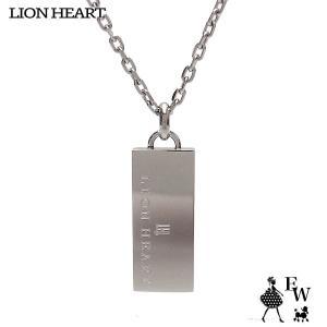 ライオンハートLION HEART ネックレス ステンレス メンズ ペンダント トライネックレス 03NE0235BK ロゴプレート ブラック エクセルワール|excelworld