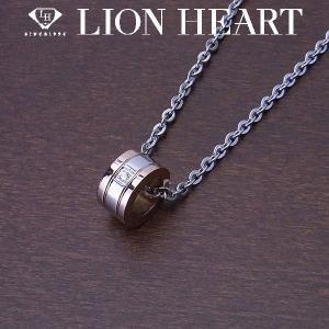 LION HEART ライオンハート ペアネックレス ステンレスライン レディース サークルネックレス ピンク エクセルワールド アクセサリー ブランド プレゼントにも|excelworld