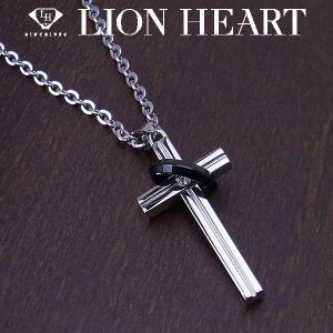 LION HEART ライオンハート ペアネックレス ステンレスライン メンズ ネックレス ブラック 04N123SM エクセルワールド アクセサリー ブランド プレゼントにも|excelworld