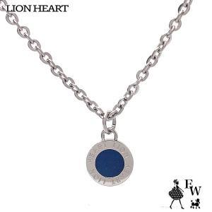 ライオンハート ネックレス LION HEART ライオンコイントップ ペンダント ネックレス 04N126SMBL エクセルワールド メンズ プレゼント アクセサリー|excelworld