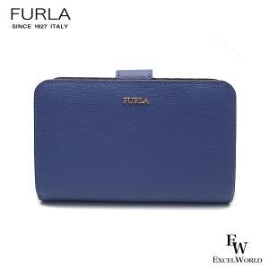 フルラ 財布 アウトレット 二つ折り財布 1023362 FURLA 保存袋付 L字ファスナー PERVINCA ブルー|excelworld