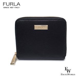 フルラ 財布 アウトレット 二つ折り財布 1044294 FURLA 保存袋付 ラウンドジップ  NERO ブラック|excelworld