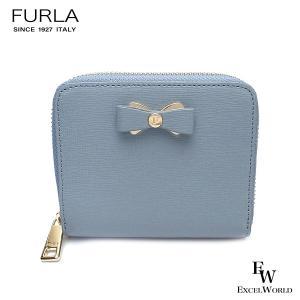 フルラ 財布 アウトレット 財布 1055567 二つ折り財布 FURLA 保存袋付 AVIO ライトブルー|excelworld
