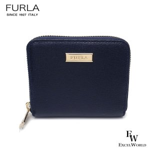 フルラ 財布 アウトレット 財布 1055577 二つ折り財布 FURLA ラウンドジップ 保存袋付 BLU ネイビー|excelworld