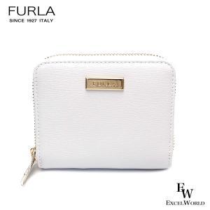 フルラ 財布 アウトレット  二つ折財布 1068128 FURLA ラウンドジップ 保存袋付 CHALK ホワイト|excelworld