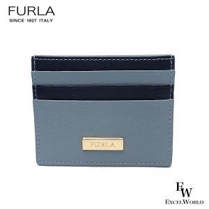 フルラ 財布 アウトレット カードケース 1066248 名刺入れ FURLA 保存袋付 AVIO+BLU ライトブルー×ネイビー|excelworld