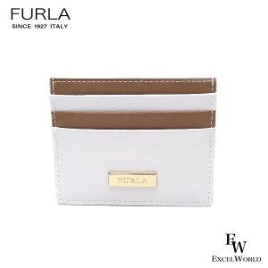 フルラ 財布 アウトレット カードケース 1066250 名刺入れ FURLA 保存袋付 CHALK+DESERT ホワイト×ライトブラウン|excelworld