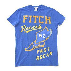 Abercrombie&Fitch アバクロンビー&フィッチ Tシャツ メンズ  ブルー Sサイズ excelworld