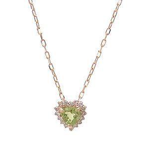 K10 PG ネックレス ペリドット ダイヤモンド 0.08ct 1269725|excelworld