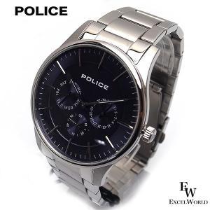 ポリス POLICE 時計 腕時計 14701JS 03 ステンレス ビジネス クロノウォッチ 5気圧防水 カレンダー表示 2年保証 メーカー正規品|excelworld