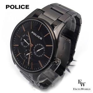 ポリス POLICE 時計 腕時計 14701JSU 13M クロノグラフ ウォッチ 5気圧防水 カレンダー表示 2年保証 メーカー正規品|excelworld