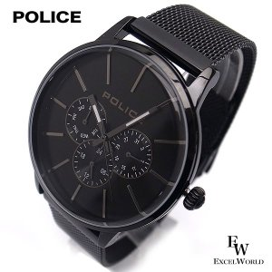 ポリス POLICE 時計 腕時計 14999JS 02MM ビジネス クロノウォッチ 5気圧防水 カレンダー表示 2年保証|excelworld