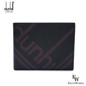 ダンヒル 財布 メンズ 19F2320SC 001 DUNHILL 二つ折り財布 小銭入れ付き ラゲッジキャンバス ブラック エクセルワールド ブランド プレゼントにも excelworld